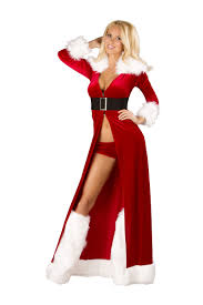 footie pajamas halloween costumes christmas costume miss claus women christmas costume