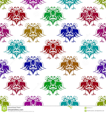 fantasy angry birds drawings pattern stock illustration image