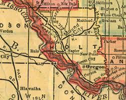 map of oregon mo holt county missouri genealogy history maps with oregon mound