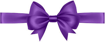purple ribbons ribbon with bow purple transparent png clip image gallery