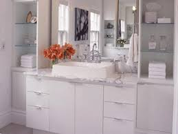 White Color And Light For Breezy Bathroom Decor - Elegant white cabinet bathroom ideas house