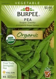 amazon com burpee 60686 organic pea sugar daddy seed packet