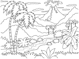 coloring pages for landscapes coloring pages landscapes mountains free printables fearsome simple