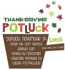 crosspoint thanksgiving potluck