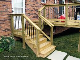 Banister Railing Concept Ideas Wood Deck Wood Deck Stairs Need A Set Of Steps Of You Deck