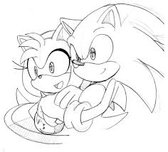 sonic and amy coloring pages sonic coloring pages amy rose
