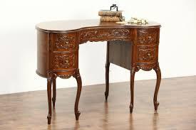 Kidney Shaped Writing Desk by Sold Kidney Shape 1940 Vintage Writing Desk Carved Walnut