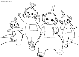 Coloriages teletubbies 1  Coloriage Teletubbies  Coloriages pour