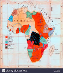 Map Of Africa Countries Map Of Africa Showing European Colonies And Independent Countries