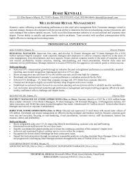 Best Resume For Sales by Retail Sales Manager Resume Example Retail Store Associate Sample