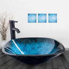 bathroom sink with side faucet square bathroom glass vessel sink bowl oil rubbed bronze faucet