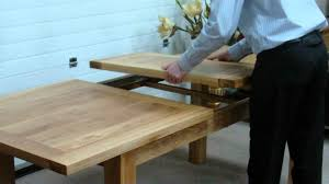 dining room table extension slides how to extend a middle extension table with metal runners youtube