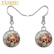 cool dangle earrings aliexpress buy tafree new cool skull dangle earrings hot