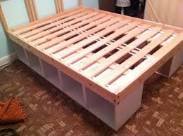 Easy Diy Platform Storage Bed by Best 25 Ikea Storage Bed Ideas On Pinterest Ikea Bed Hack Ikea