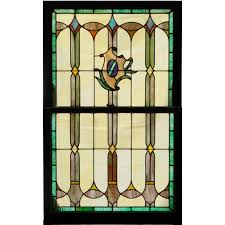 antique stained glass transom window antique stained glass