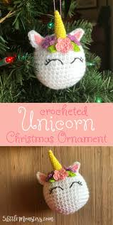 Unicorn Christmas Ornament 5 Little Monsters Crocheted Unicorn Ornament