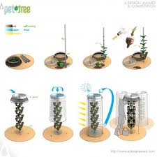 a design award and competition pet tree vertical eco planting