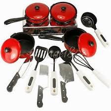 ustensiles cuisine enfants 13 pièces ustensiles de cuisine enfant dînette de poupée casserole