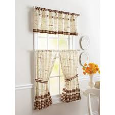 coffee kitchen curtains better homes and gardens cafe window tier walmart