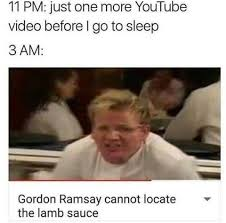 Gordon Ramsey Memes - gordon ramsay cannot locate the lamb sauce meme by inesmagana