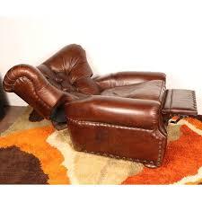 Restoration Hardware Recliner Churchill Leather Recliner By Restoration Hardware Chairish