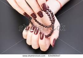 beautiful hands stylish manicure women have stock photo 590491604