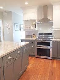gray kitchen cabinets ideas gray shaker cabinets white quartz counter tops grecian white