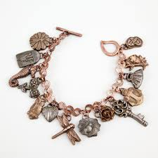 copper charm bracelet images Antique mold charm bracelet by annie kilborn cool tools blog jpg