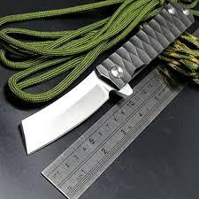tactical kitchen knives eafengrow ef97 pocket knife folding knives d2 steel blade titanium