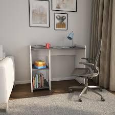 bureau blanc et gris br bureau contemporain mélaminé blanc et gris foncé mat l 100 cm