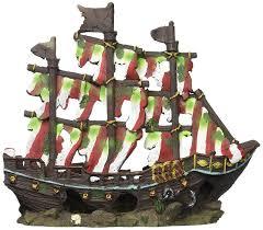 penn plax striped sail shipwreck aquarium decoration