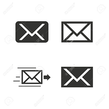 mail envelope icons message delivery symbol post office letter