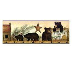 wildlife wallpaper border home blue mountain bears wallpaper