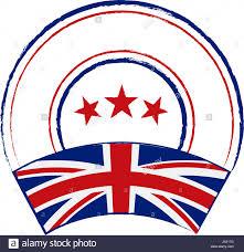 English Flag Flag And Stamp Design Retro Stamp With English Flag On White