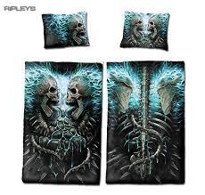 spiral direct bedding single duvet u0026 pillowcase flaming spine