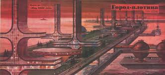 soviet vision of floating city in the year 2000 1974 retrofuturism