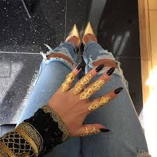 long gold rings images Jewels gold gold ring gold jewelry black black nails nail jpg