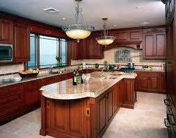 elegant classic cherry kitchen cabinets light cabinets black