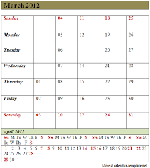 march 2012 calendar template calendar template