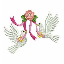 wedding ring doves embroidery designs machine embroidery designs