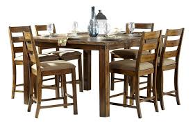 ronan extension table and chairs homelegance ronan 7 piece counter height table set in burnished