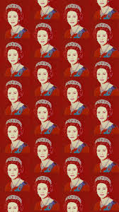 contemporary wallpaper patterned printed queen elizabeth by