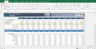 Income Statement Template In Excel by Profit And Loss Statement Template Free Excel Spreadsheet