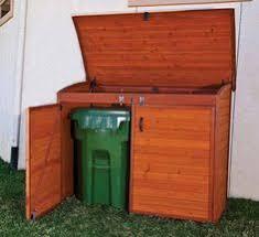 garbage can storage house decks pinterest storage yards and