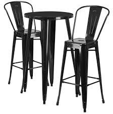 Bar Table And Stool Set Flash Furniture 24 U0027 U0027 Round Metal Indoor Outdoor Bar Table Set W 2