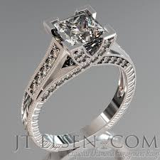 vintage design rings images Pave diamond enagement rings antique style engagement ring round jpg