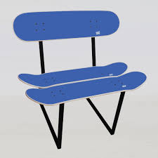 skate bench no1 by jonathon kemnitzer kickstarter skateboard chair blue skateboard chair for children and older skaters gift
