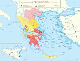 Punic Wars Map A Detailed Map Of The Peloponnesian War In The 5th Century Bc