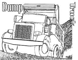 free printable dump truck coloring pages for kids throughout