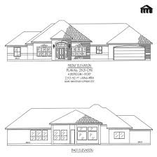 One Story 4 Bedroom House Plans by Plan No 2521 0311